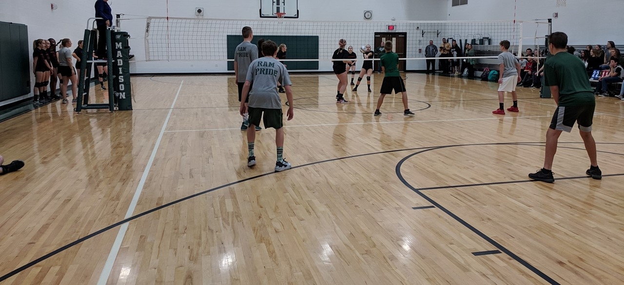 8th Grade Footbal vs. 8th Grade Volleyball Game