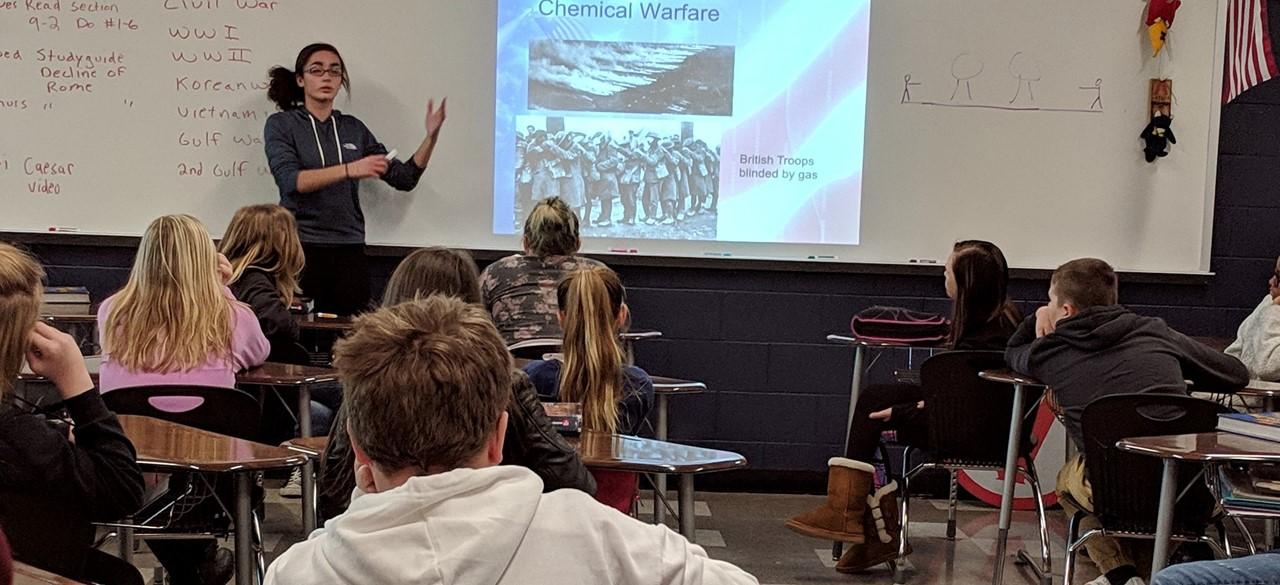 Student Veteran's Day presentation