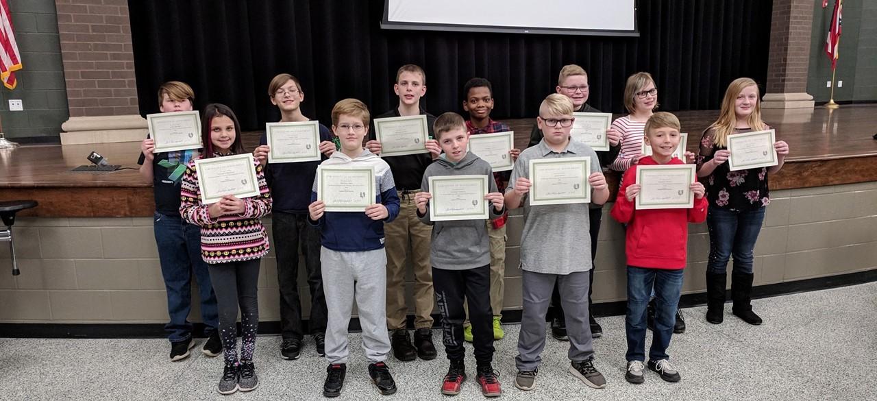 State test perfect score recipients