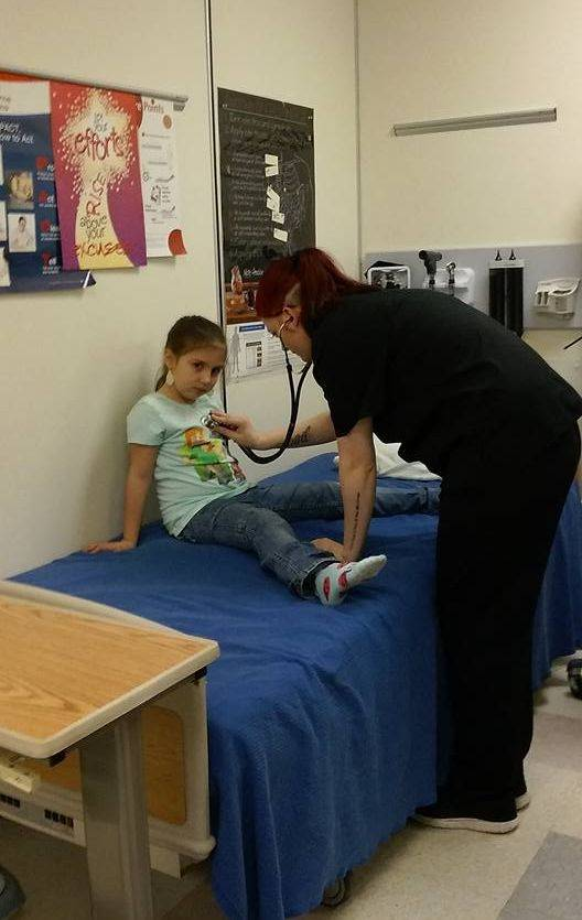 Student Checking Patient's Vitals