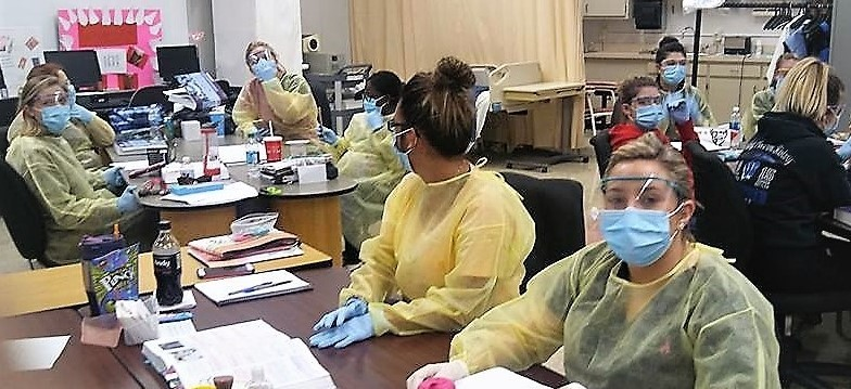 Dental Assisting Students in Masks