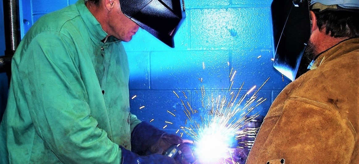 Welding Student in Action