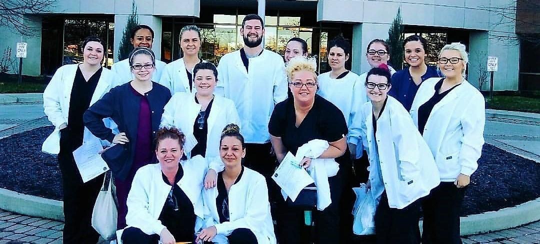 Dental Assisting Students at Testing