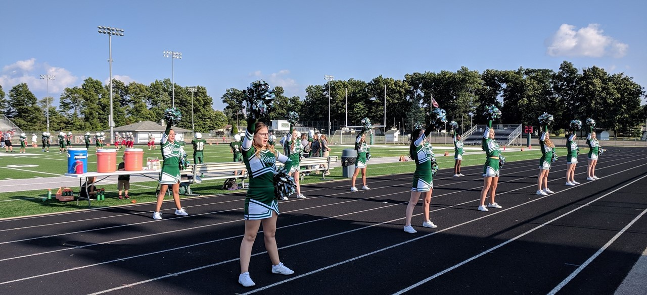 Cheerleading in August