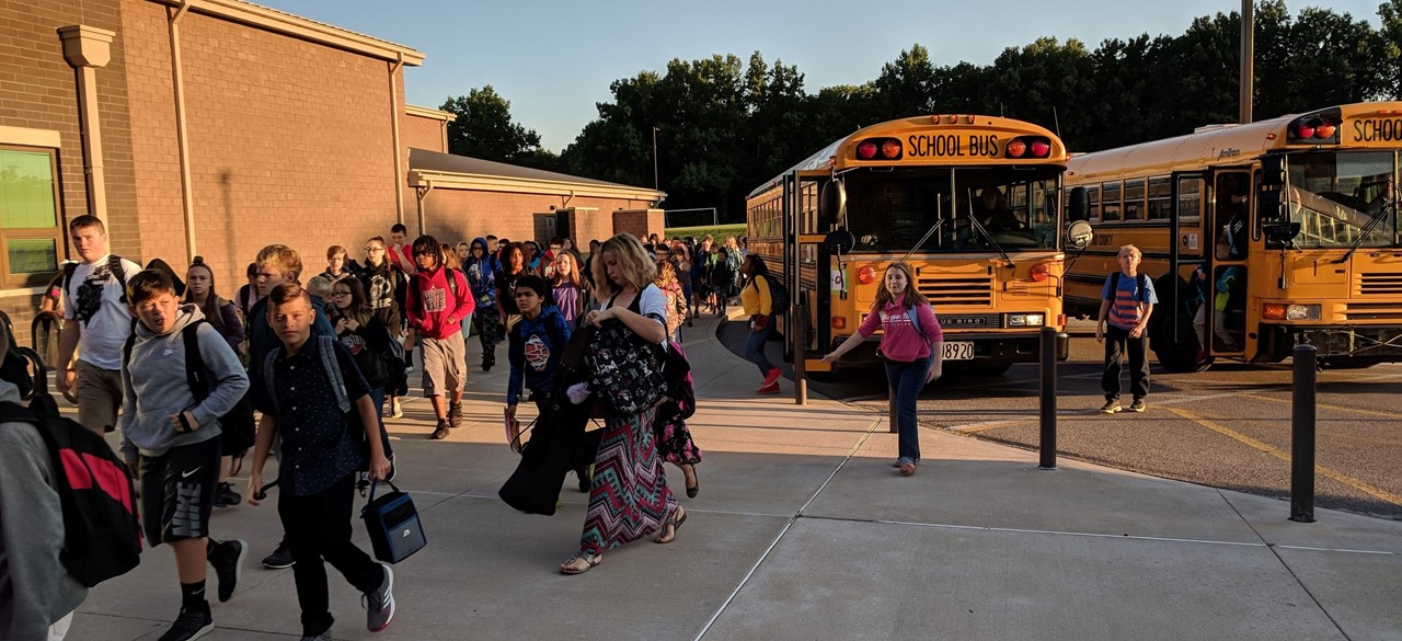 Bus arrival in August
