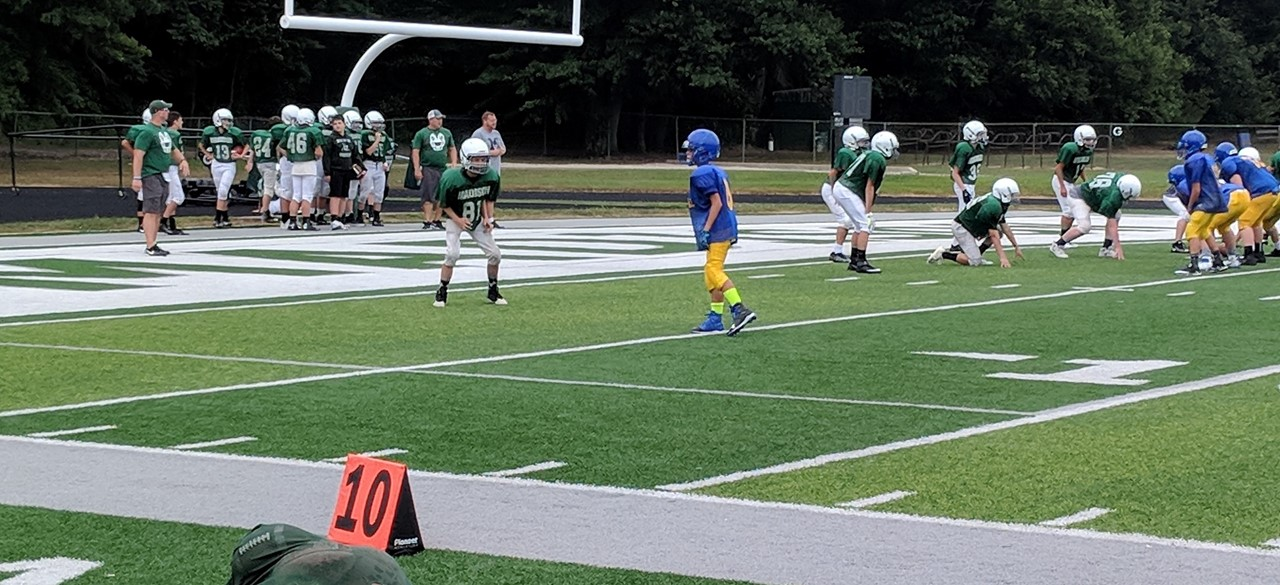 8th grade football in August
