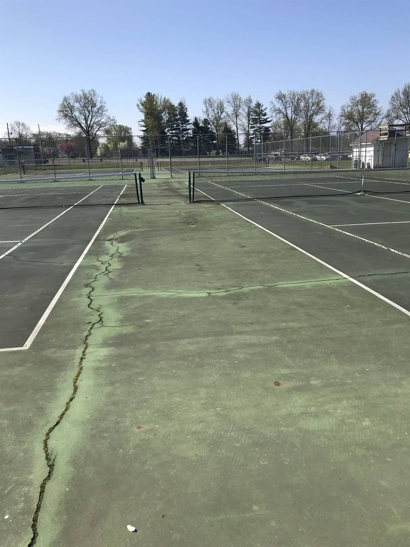 old courts, before project