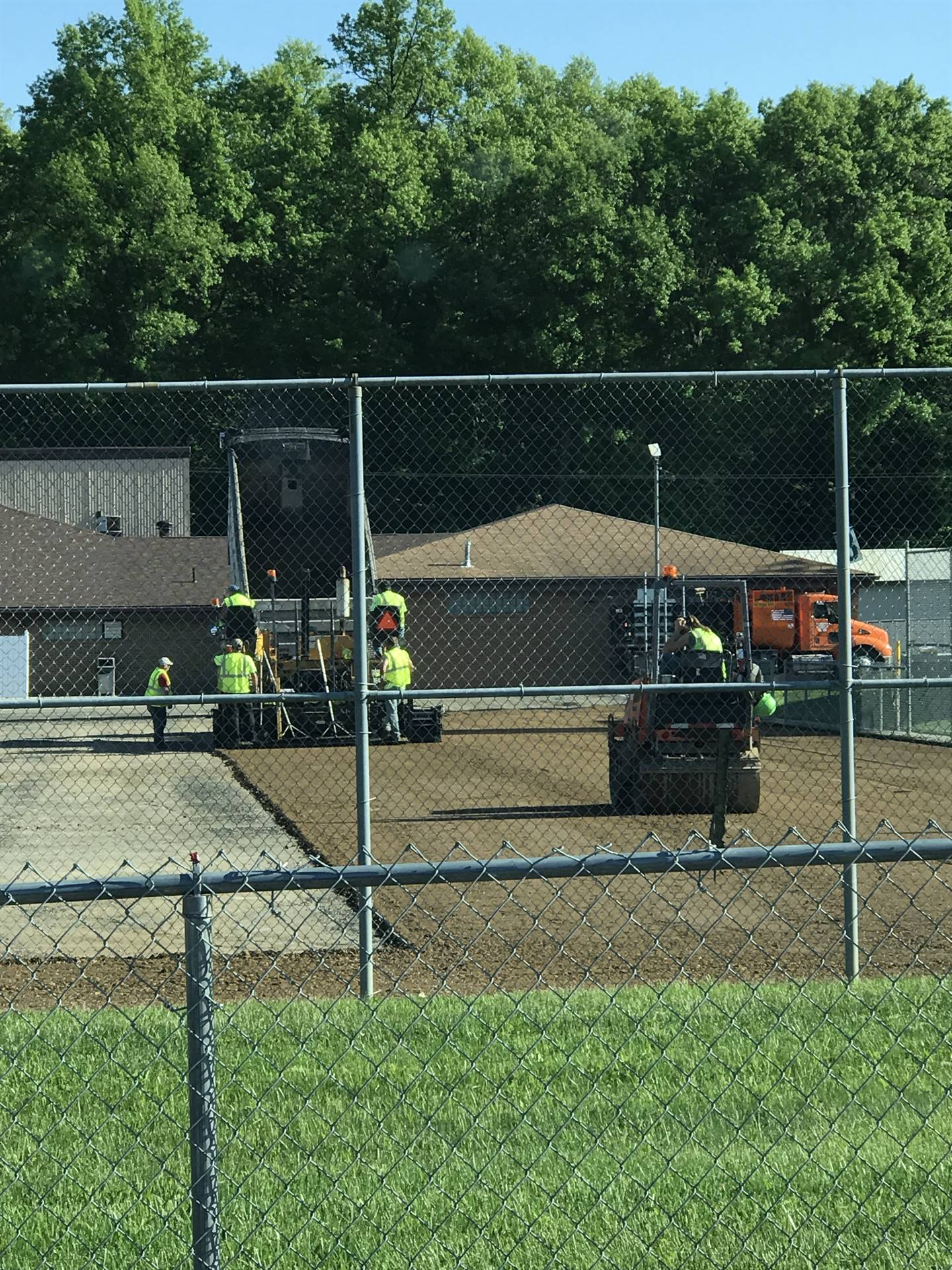 New sub base being laid