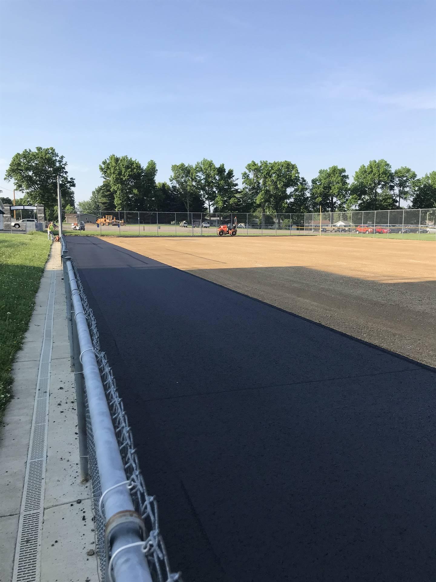 New striop of asphalt