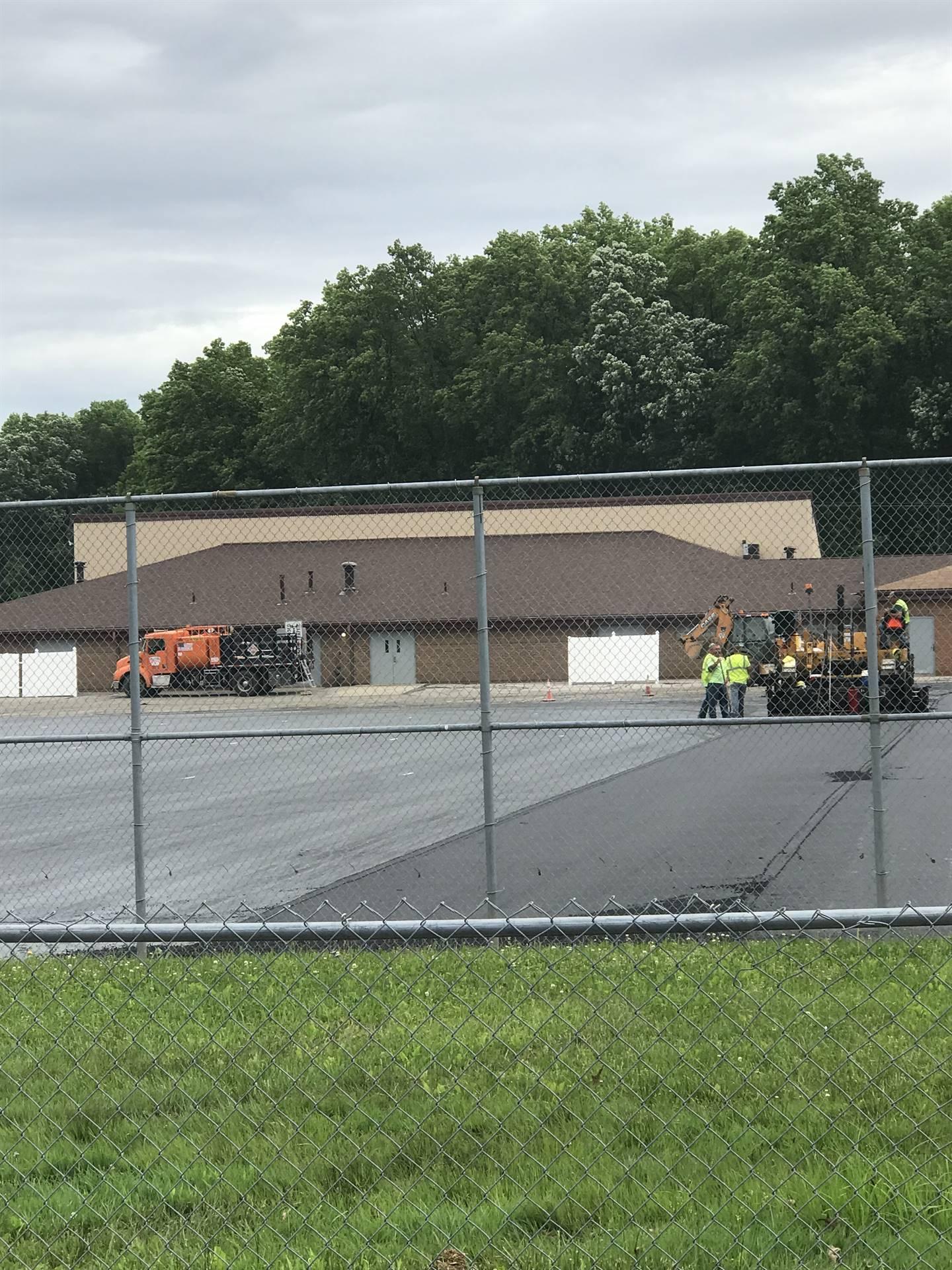 new asphalt down