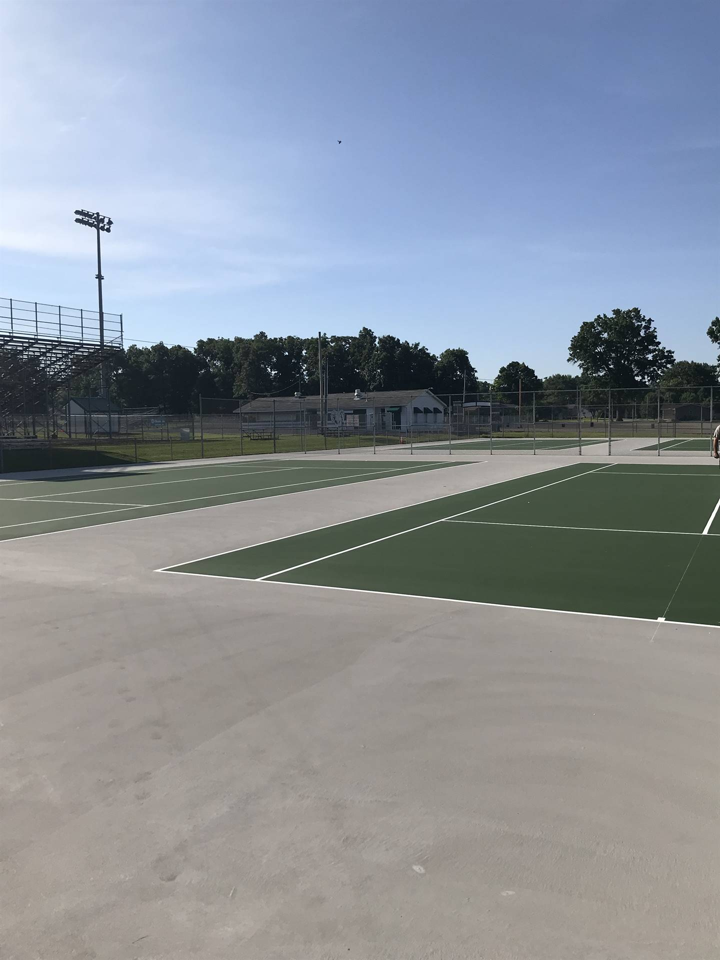 new courts finished