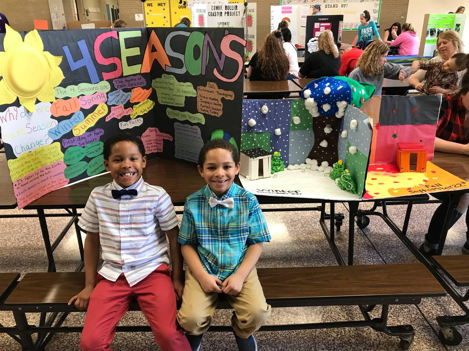 Science Fair contestants