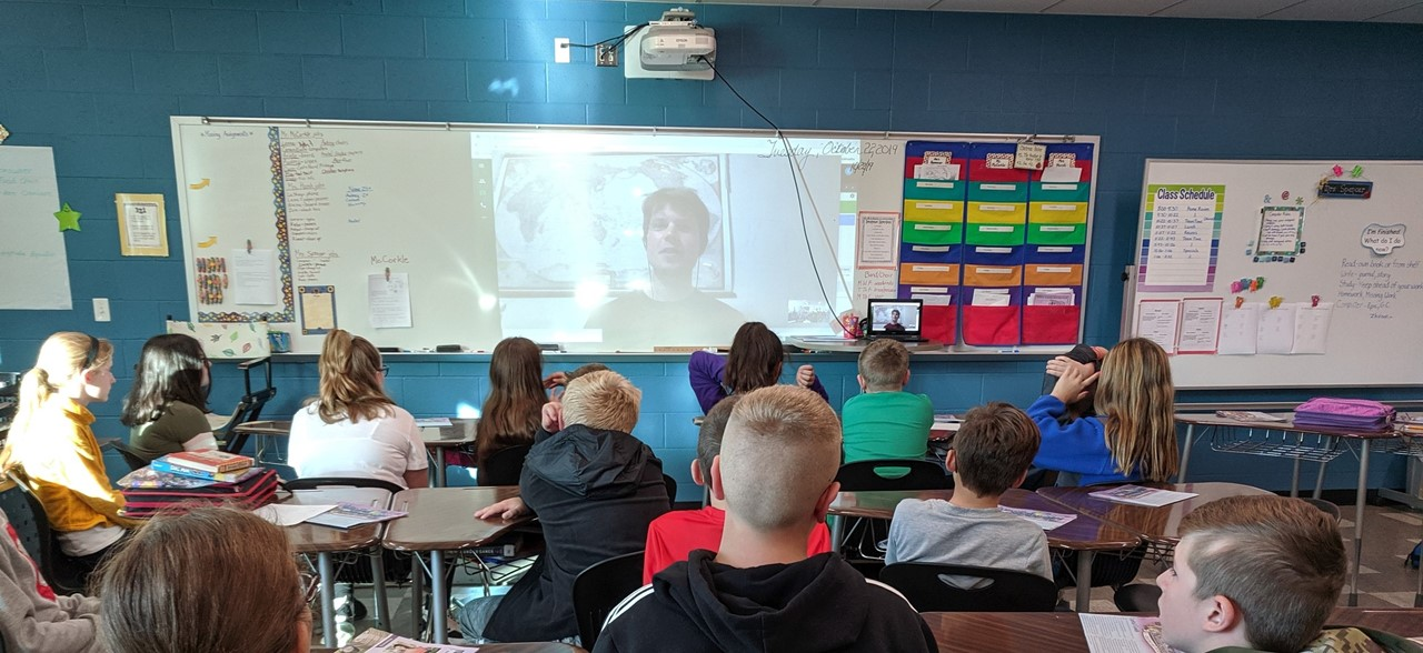 5th Grade Science class Skyping