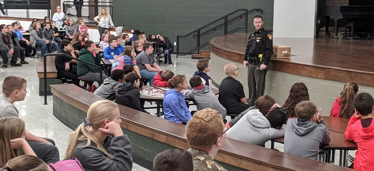 SRO speaking to students