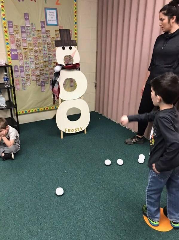 Snowman Snowball Throwing