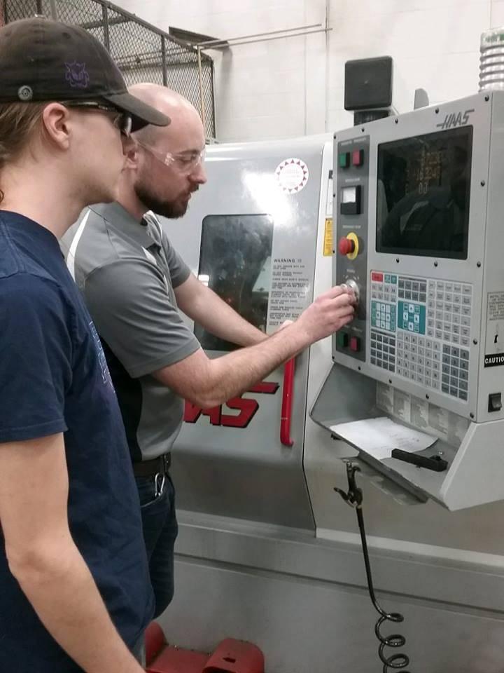 Lab Pic w/ Instructor