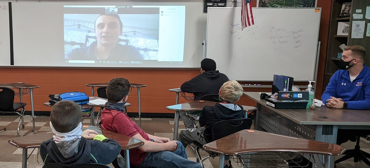 Virtual meeting with EMT in health class