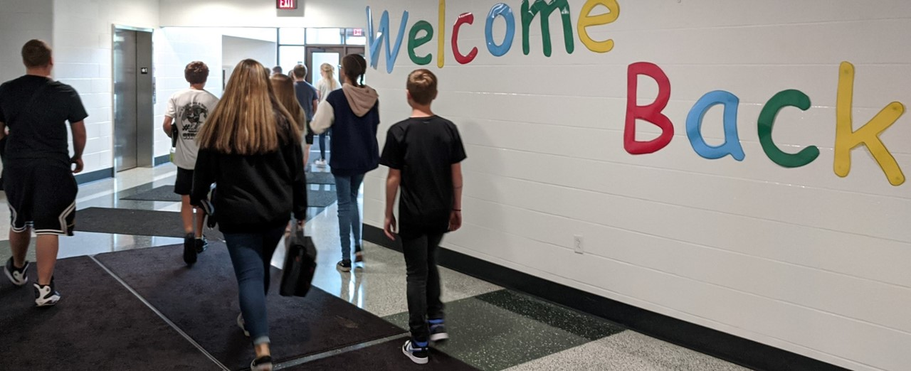 Students welcomed back.